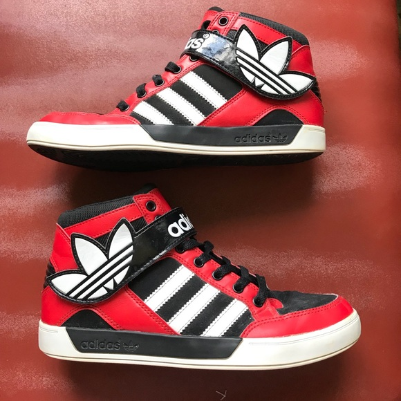 adidas - turnschuhe poshmark roten high - top